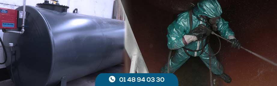 Nettoyage de cuve à fioul en 4 étapes