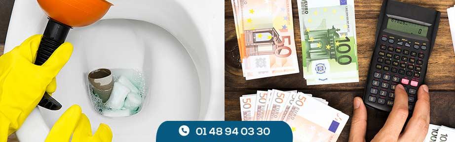 Prix débouchage WC et canalisation guide utile des coûts